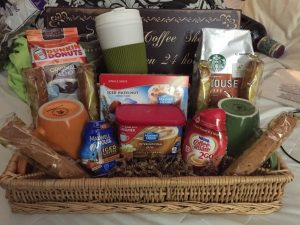Gourmet Coffee Lover's Gift Basket With Baked Goods