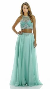 Halter Top Two Piece Prom