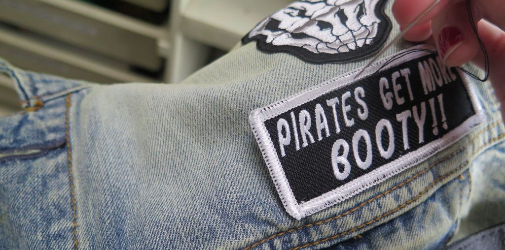 How to sew a patch on a jacket