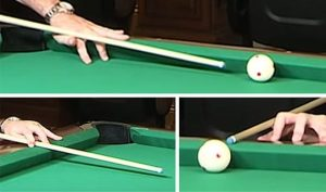 Master Holding The Cue