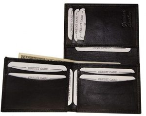 Men's Genuine Leather Unique L Shape Bifold Wallet Black By Ag Wallets