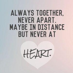 Always together, never apar