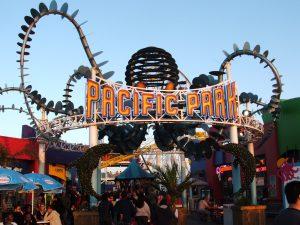 Ride the Ferris wheel at Pacific Park in the Santa Monica Pier
