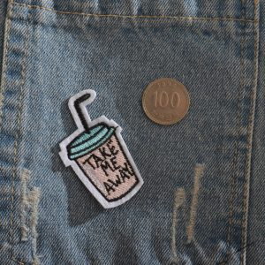 jacket and take a patch