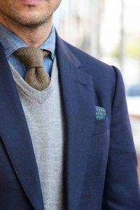 How to Wear a V-neck Sweater with a Tie