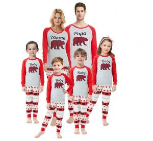 Matching Family Christmas Pajamas Boys Girls Deer Pjs Toddler Kids Children Sleepwear Baby Clothes Pyjamas Women XS