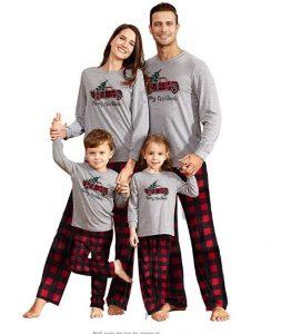Yaffi Matching Family Pajamas Sets Christmas PJ's Sleepwear for Kids & Adult